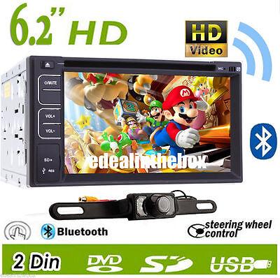 "DOUBLE2 DIN 6.2"" Car CD DVD Player Car Stereo Radio iPod USB/SD Bluetooth Camera on Rummage"
