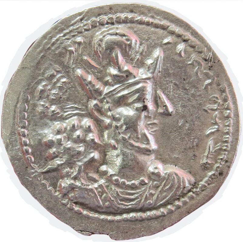 AD 240- 272 SILVER SASANIAN KINGDOM SHAPUR AR DRACHM 4.16 GRAMS ABOUT UNC+