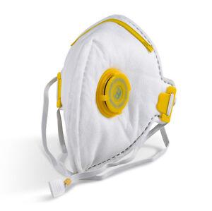 Flat Fold P3 Valved Face Mask Valve Respirator Dust Asbestos Plaster Toxic PPE