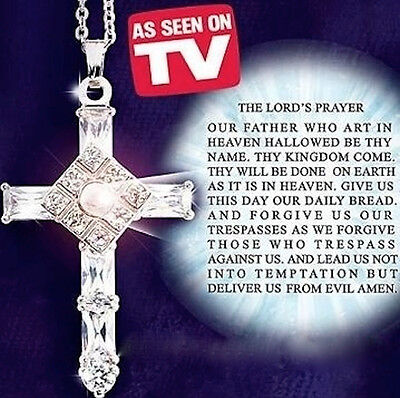 The Lords Prayer Cross Pendant Necklace - New in Beautiful Velvet Gift Box - The Prayer Box