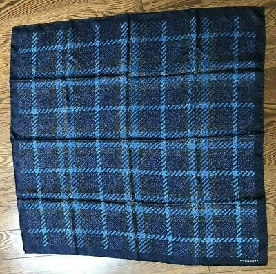 BURBERRY Silk Blue Scarf