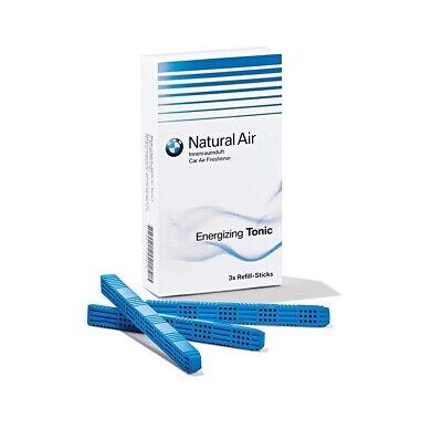 Genuine NEW Air Freshener Energizing Tonic Refill 3 Sticks For BMW