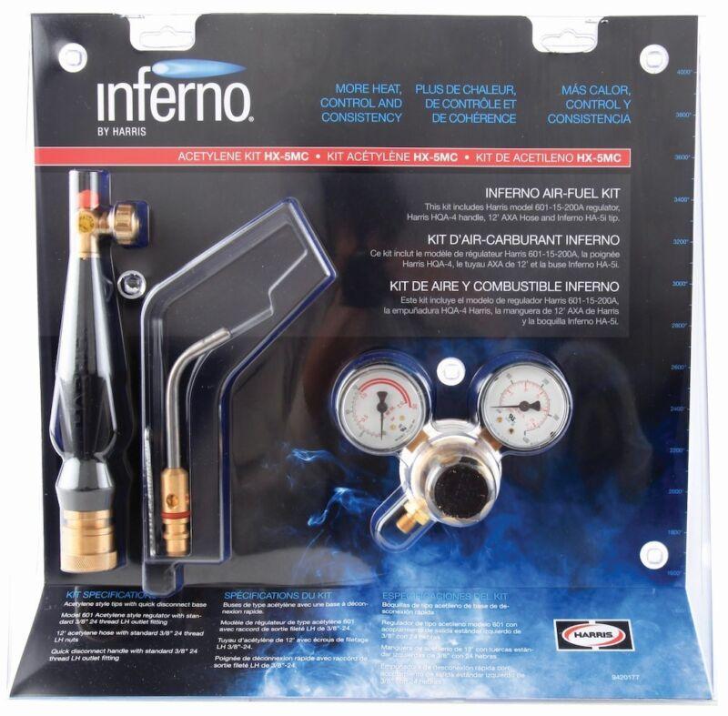 Harris Inferno HX-5MC X5MC Torch Extreme Air Acetylene Kit Quick Connect