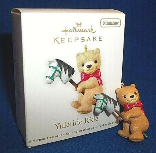 Hallmark 2012 Yuletide Ride Miniature Keepsake Ornament Teddy Bear Horse QXM9024