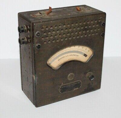 Vintage Weston Electrical Instrument Corporation A.c. Voltmeter Model 155