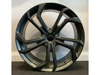 "18"" VW GTI TCI Style Gunmetal alloy wheels & tyres VW Jetta,Passat,Caddy Golf MK5,MK6,MK7 Etc 5x112"