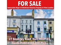 Immaculate Huge Victorian Property in Prime Location In Hulll For Sale.