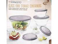Glass Food Storage Containers 5 pack with lids.