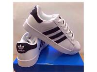 Black & White Mens Casual Trainers Brand New