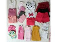 REDUCED // Baby Girl's Clothes Bundle, 9-12 months