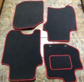 Honda Jazz Car mats - black with red trim (unused)