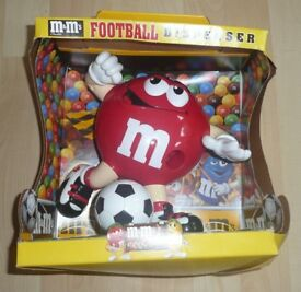M&M's RED Football DISPENSER 2000 – NEW – UNUSED - COLLECTIBLE