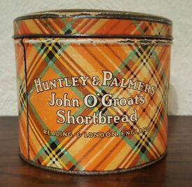 Vintage Huntley and Palmers Biscuit Tin of John O'Groats Shortbread