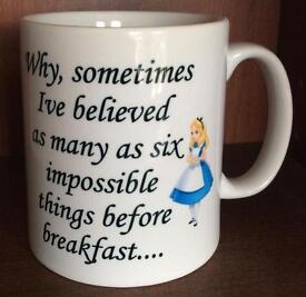 Alice In Wonderland ; 6 Impossible Things Mug