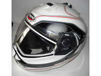 Caberg Duke Booster Motorcycle Helmet in White.