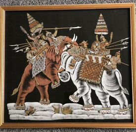 Balinese Picture in Frame For Sale