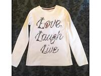 Girls long sleeved top age 10-11