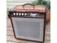 1981 Boxer 60w solid state amplifier, 15 inch speaker, wooden cabinet