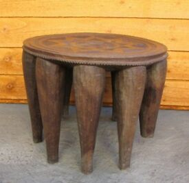 Milking stool Rare and unusual Vintage wooden art and deco table need restoration DELIVERY AVAILABLE