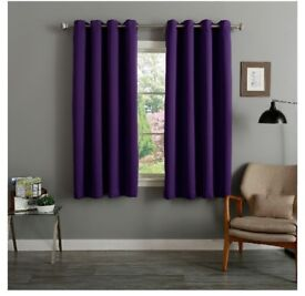 """Brand new pair of aubergine coloured black out/thermal curtains W 46"""" × L 54"""""""