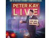 Peter Kay tickets Genting Arena Birmingham Sat 28th April Fab tickets