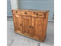 Solid pine / solid wood sideboard rustic / farmhouse / country style