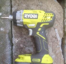 Ryobi 18v impact driver +