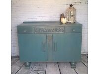 Hand painted sideboard