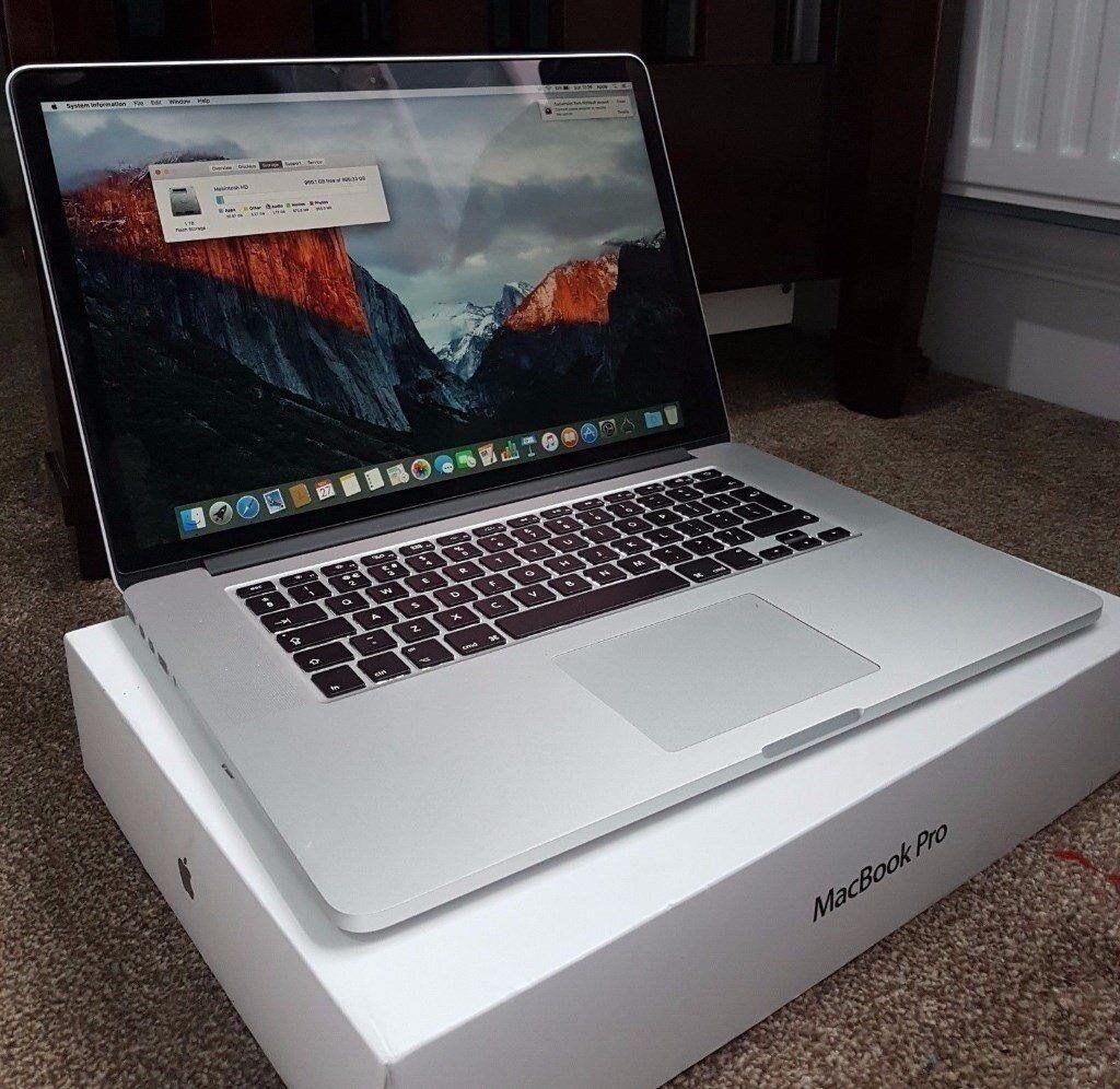 """MacBook Pro 15"""" 2015 16GB 2.5Ghz i7 500GB"""