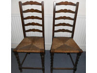 Two Oak Bedroom Chairs