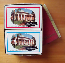 Vintage (1950s/60s?) American White Columns playing cards - 2 decks in the box. £5 ovno