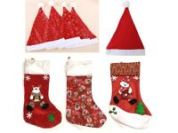 2f091871889 Bulk Xmas Christmas Stockings Santa Hats Decorations For Market  Carboot Wholesale  Resale Party