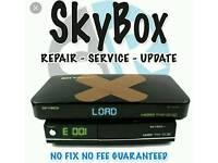 Sky box open box repaired