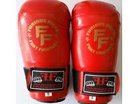 Furiousfistsuk Genuine Leather Bag Gloves ( RED Color)