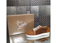 Brown Christian Louboutin Low Top Trainers