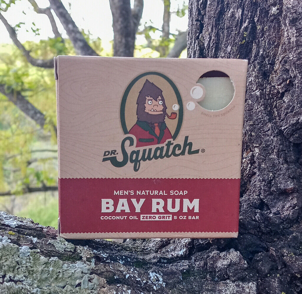 Dr. Squatch Bay Rum Soap for Men - 5oz Free Shipping