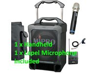 "MiPRO MA-707 70 Watt ""One box"" U3A Meeting PA System with 2 Microphones (Lapel and Handheld)"