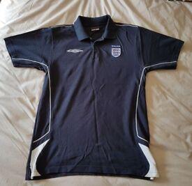 Mens Classic Umbro England Football Polo Tshirt Shirt XL
