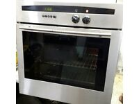 NEFF, STAINLESS STEEL ELECTRIC MULTIFUNCTION FAN OVEN/GRILL IMMACULATE THROUGHOUT.