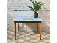 Vintage Retro Kitchen Dining Table Desk Formica #806