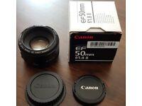 Canon EF 50mm f/1.8 II lense