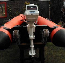 Johnson 4HP 2 Stroke Twin Cylinder Short Shaft Outboard Engine Serviced 27/7/20