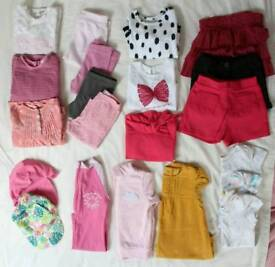 Baby Girl's Clothes Bundle, 9-12 months