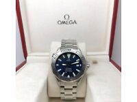 GENTS OMEGA SEAMASTER 300M 2255.80.00 BLUE WAVE DIAL SWORD HAND AUTOMATIC WATCH