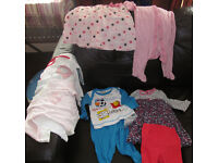 Baby Girl clothes - 6 - 9 months /6 - 12 months - 9 items. Very good condition.