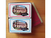 Vintage (1950s/60s?) American White Columns playing cards – 2 decks in the box. £5 ovno.