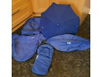 Oyster carrycot blue colour pack including umbrella