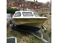 Shetland project boat with trailer