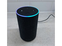 Used Amazon Echo 2nd Generation with Charger Alexa Smart Home Automation, Charcoal Colour