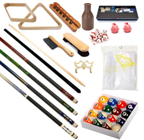 Pool Table - Premium Billiard Accessory Kit - Pool Cue Sticks Bridge Ball Sets